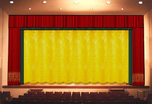 作,电动液压升降舞台图一 电动舞台升降幕效果图-天津电动舞台幕布