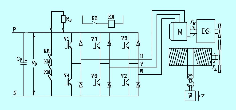 起重机大车加装变频器电路图