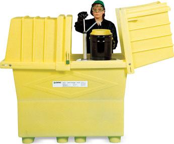 可存放装有防爆抽液泵的55加仑(210升)油桶或其它