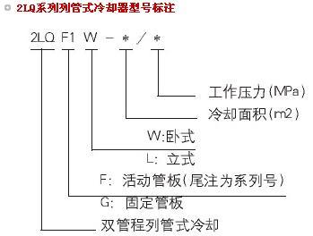 2LQ列管式冷却器