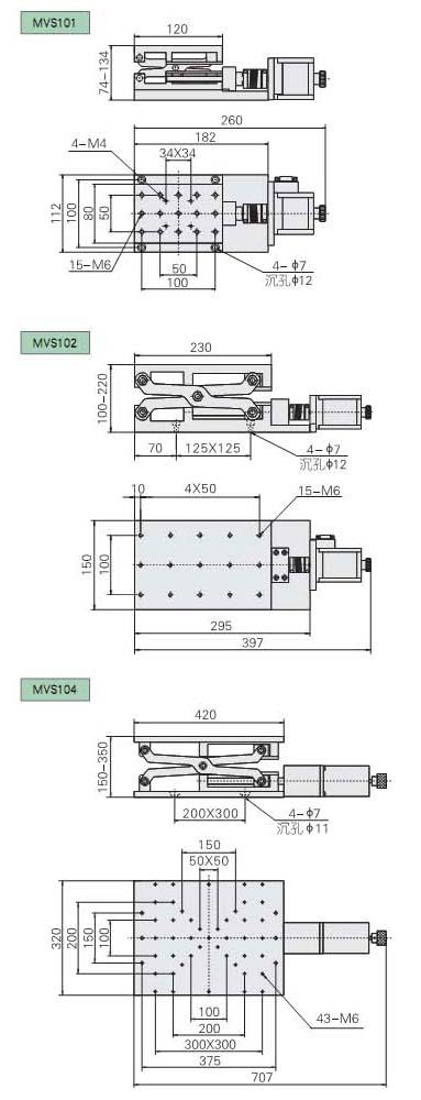 MVS100系列电动剪式升降台