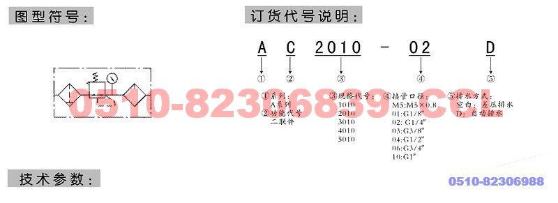 XAC1010-M5D    XAC2010-01D    XAC2010-02D   二联件(老款)