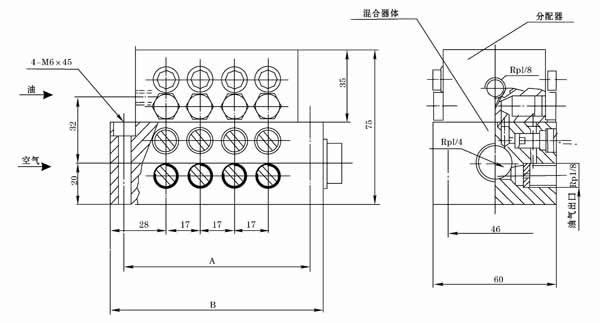 QHQ-J12A1  QHQ-J12A2  QHQ-J12B1  QHQ-J12B2  油气分配混合器