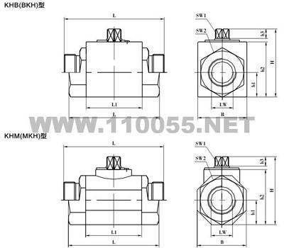 MKH-M30×1.5 MKH-M36×2 MKH-M42×2 高压球阀
