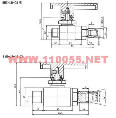 高压球阀 BME-LR-08 BME-LR-12
