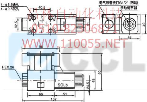 DSG-01-3C60-D24-50  DSG-03-3C60-D24-50  电磁换向阀
