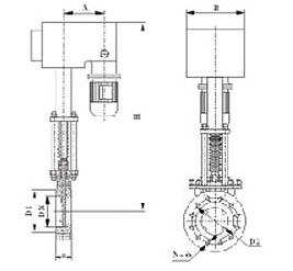 电液动刀型闸阀PZ273H
