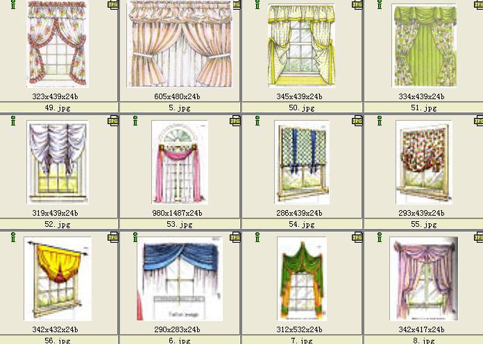 古典窗帘样式造型yeeby