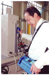 仪器体积小,重量轻,可以随身携带。驱动箱小巧轻便,可以在水平、垂直、向上等任意位置测量-1