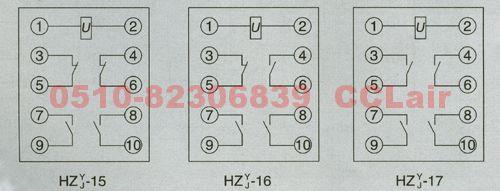 hzj-16 hzj-15 hzj-17 hzy-15 hzy-16 hzy-17 静态中间继电器