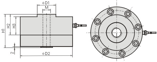 Load Cell CZL 203 Dimension