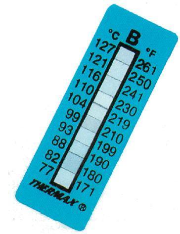 10格英国THERMAX测温纸