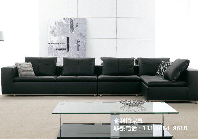 欧式时尚简约真皮沙发 沙发与窗帘的搭配 北京金利恒