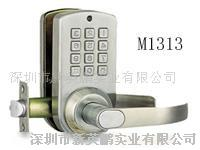 密码智能门锁(不锈钢)按密码开门 特价