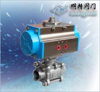 不銹鋼304二片式氣動球閥 SMQ611F