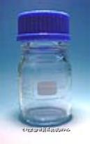茶色廣口試藥瓶 德國Schott(藍蓋,耐熱至140℃)