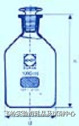茶色磨砂細口瓶 SCHOTT