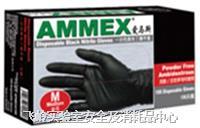 一次性黑色丁腈手套 食品级;无粉,指尖麻面