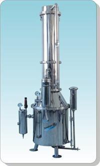 不锈钢塔式蒸汽重蒸馏水器 TZ50