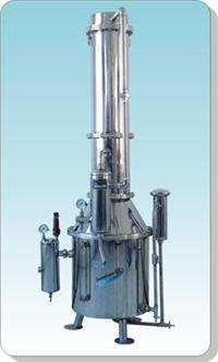 不锈钢塔式蒸汽重蒸馏水器 TZ600