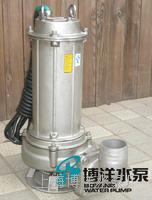 工博牌不锈钢WQ无堵塞排污泵  无堵塞排污泵   耐腐蚀排污泵 WQ系列
