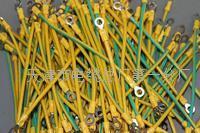 天津电缆10公分带端子光伏接地线 软芯6平方双色接地线 10公分6平方