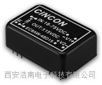 EC8AW系列微尺寸封装 DC-DC电源转换器 EC8AW-24S05,EC8AW-48S12,EC8AW-48S15,EC8AW-24S12