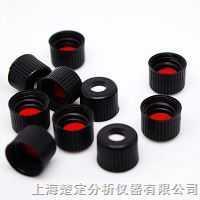 2ml样品瓶黑色开孔拧盖带红色PTFE/白色硅胶垫(适用于8-425螺纹口瓶) V3208-08GD