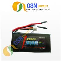 11.1V 1300MAH High Discharge Rate Li-poly Battery Pack