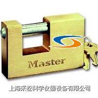 横开铜安全挂锁 Master lock,608,85mm宽锁体,12mm粗锁钩,大号