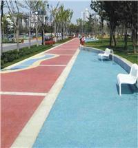 新式环保地坪,彩色透水路面