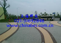 供应杭州C15透水混凝土/广场透水砼公司 BES-02