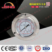 轴向带前边耐震压力表 YN-60ZT/100ZT/150ZT