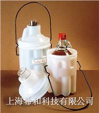 美國Nalgene6501安全瓶子運載容器,低密度聚乙烯;聚碳酸酯蓋;環氧樹脂外套手柄