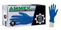一次性耐用型藍色丁腈手套(無粉,麻面,深藍色) APFNCHD