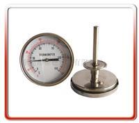 100MM轴向卫生型双金属温度计   100WSS400F