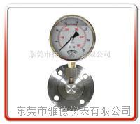 角型法兰隔膜压力表  YTP100-GL