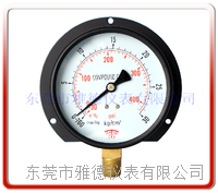 100MM径向带后边真空气压表 真空压力表  100QL-PA001