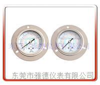 60MM轴向带边冷媒油压表 1.8MPA/3.8MPA高低压冷媒压力表 制冷压力表  60LM-UB05
