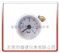 37mm带毛细管水压表 毛细管压力表 蒸汽压力表  壁挂炉水压表  37QZ-D25