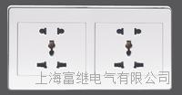 JCCZ2-2B3-2A二位多功能五孔插座(连体) JCCZ2-2B3-2M