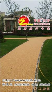 透水彩色米石胶粘剂,胶粘石路面铺装 上海睿龙品牌 WDO078
