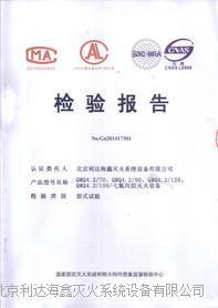 七氟丙烷气体灭火系统检验报告