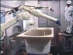 深圳松崎機器人噴涂浴缸 松崎機器人