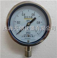 现货供应YA-100BF不锈钢氨气压力表 YA-100BF