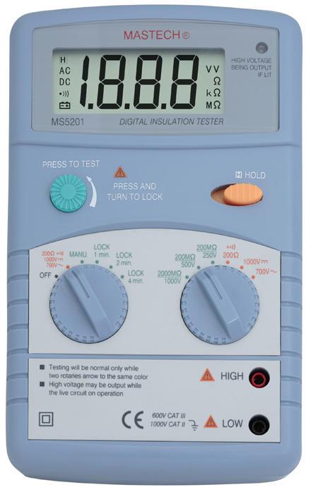 MS5201 声光报警数字兆欧表