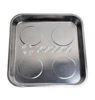 Stainless Steel Quad Magnetic Parts Tray 290 × 270mm