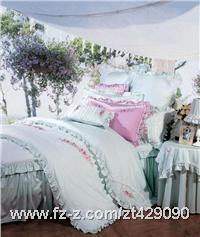 富安娜家纺 床品 纯棉绣花 床裙八件套