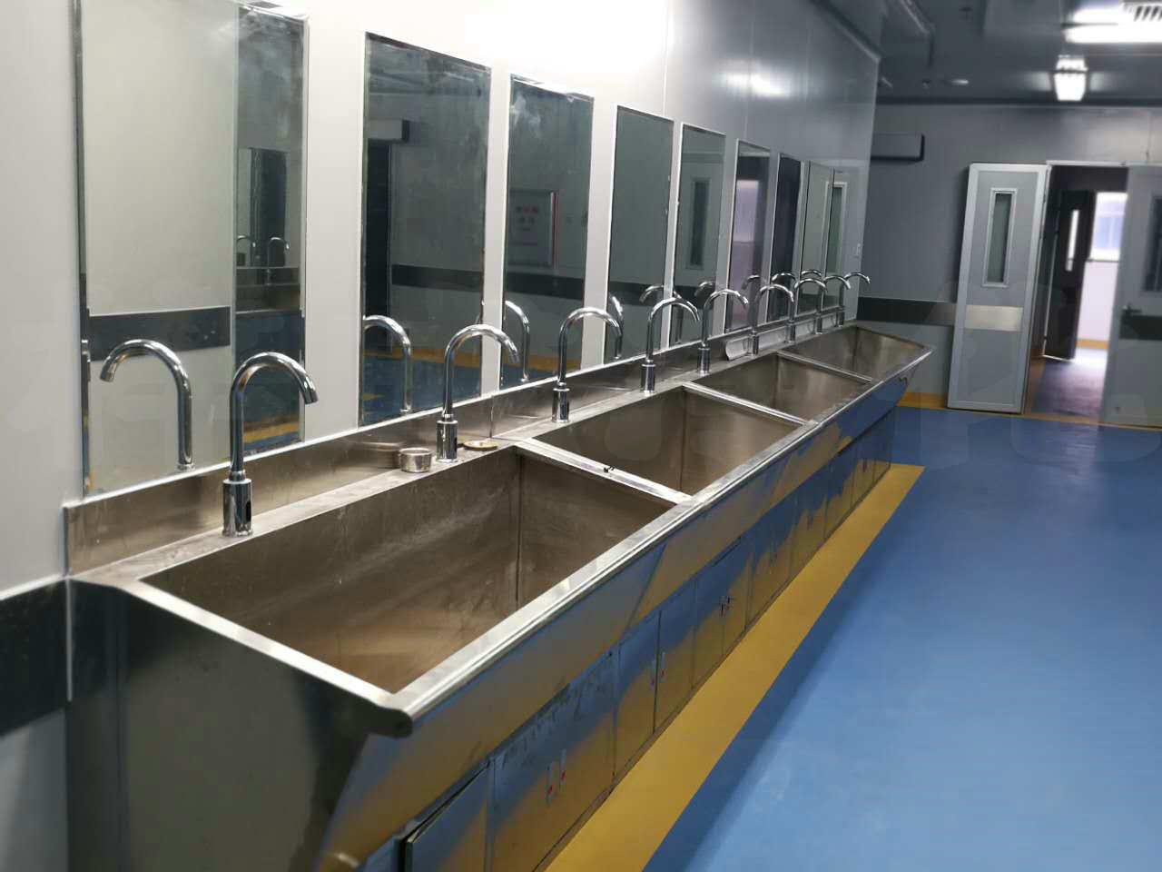 多人不鏽鋼洗手池