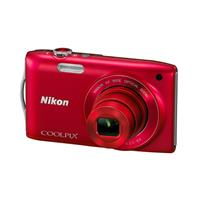 Nikon尼康COOLPIX S3200 便携数码相机 (红色)